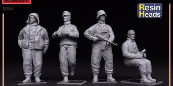 MiniArt Tank Crew Kharkov 1943 Resin Heads